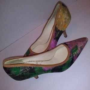 Miu Miu multi-color floral print heels size 6 1/2